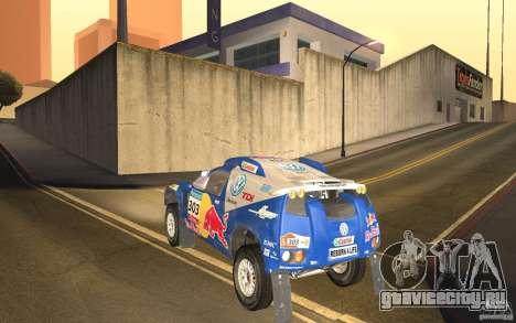 Volkswagen Race Touareg для GTA San Andreas вид сзади слева