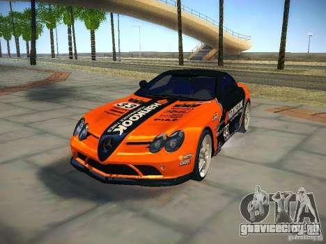 Mercedes SLR McLaren 722 для GTA San Andreas вид сбоку