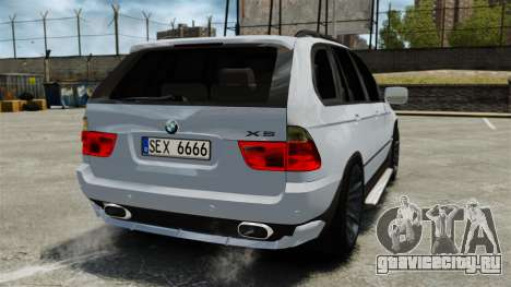 BMW X5 4.8IS BAKU для GTA 4 вид сзади слева