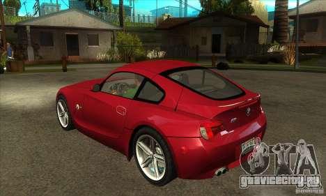 BMW Z4 - Stock для GTA San Andreas вид сзади слева