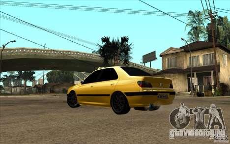 Peugeot 406 Taxi для GTA San Andreas вид сзади слева