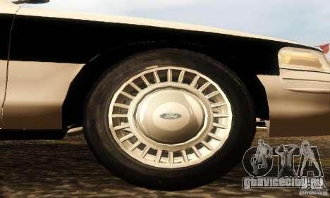 Ford Crown Victoria New Corolina Police для GTA San Andreas вид справа