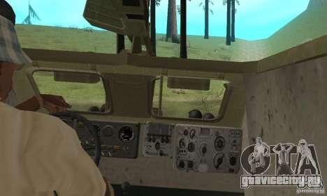 БРДМ-1 Скин 2 для GTA San Andreas вид изнутри