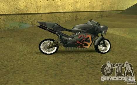 Мотоцикл из Alien City для GTA San Andreas вид сзади слева
