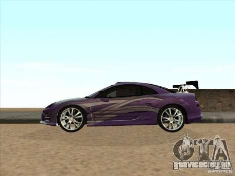 Mitsubishi Eclipse Spyder 2FAST2FURIOUS для GTA San Andreas вид слева