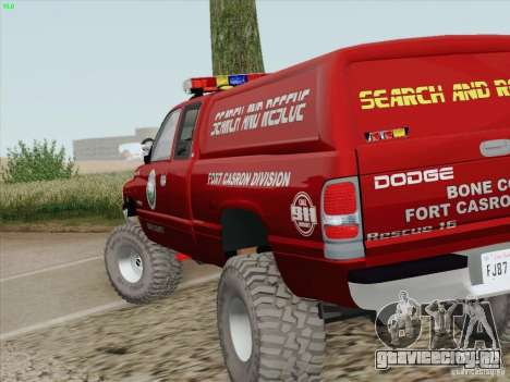 Dodge Ram 3500 Search & Rescue для GTA San Andreas вид сверху
