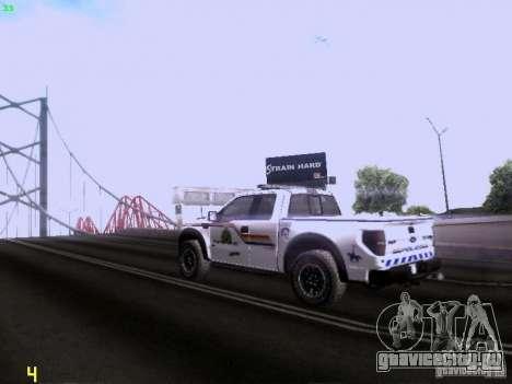 Ford Raptor Royal Canadian Mountain Police для GTA San Andreas вид справа