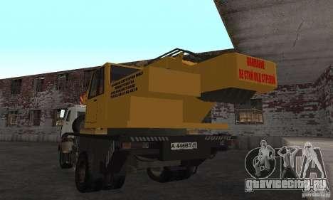 MAZ Автокран для GTA San Andreas вид сзади слева