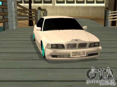 BMW 750i JDM для GTA San Andreas вид справа