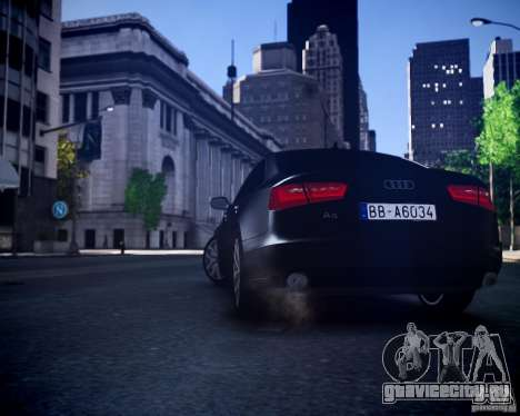 Audi A6 2012 для GTA 4 вид сзади