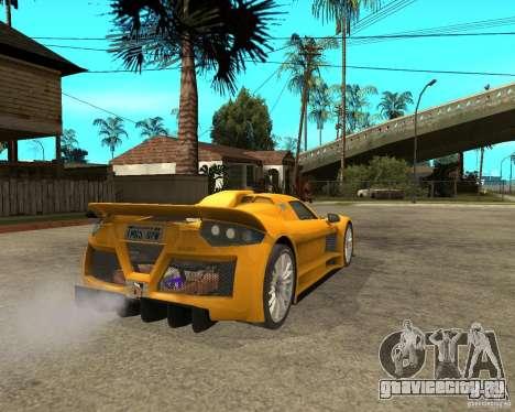 Gumpert Appolo для GTA San Andreas вид сзади слева