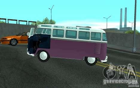 Volkswagen Transporter T1 SAMBAQ CAMPERVAN для GTA San Andreas двигатель