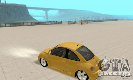 Volkswagen New Beetle GTi 1.8 Turbo для GTA San Andreas вид сзади