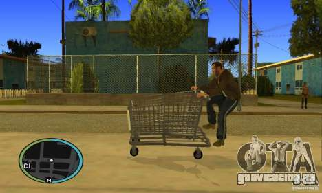 Shopping Cart Faggio V2 для GTA San Andreas вид справа