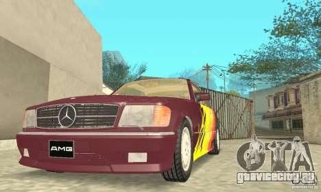 Mercedes-Benz W126 560SEC для GTA San Andreas колёса