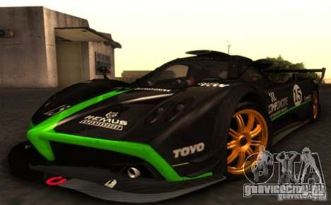 Pagani Zonda R для GTA San Andreas вид сбоку