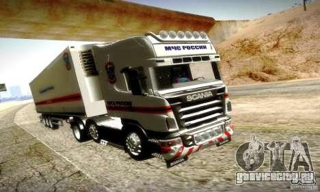 Scania R620 МЧС России для GTA San Andreas вид сверху