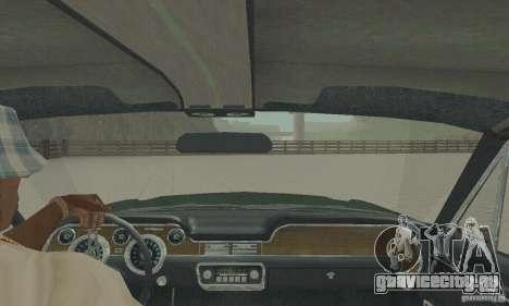 Ford Mustang Bullitt 1968 v.2 для GTA San Andreas вид сзади