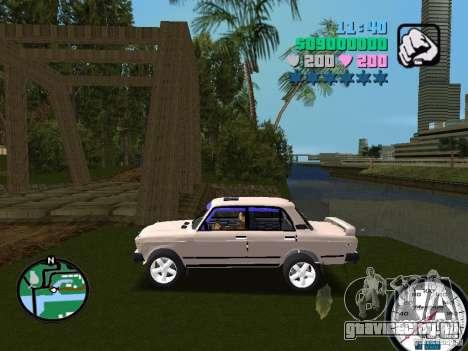 ВАЗ 2107 для GTA Vice City вид слева