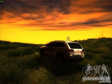 Jeep Grand Cherokee 2012 v2.0 для GTA San Andreas вид сзади слева