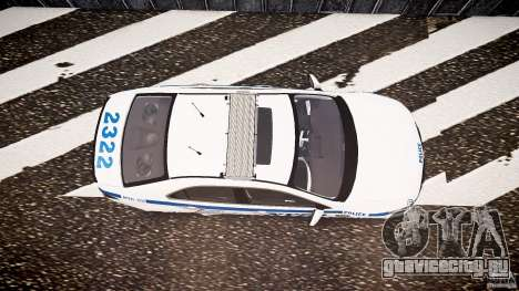 Honda Accord Type R NYPD (City Patrol 2322) ELS для GTA 4 вид справа