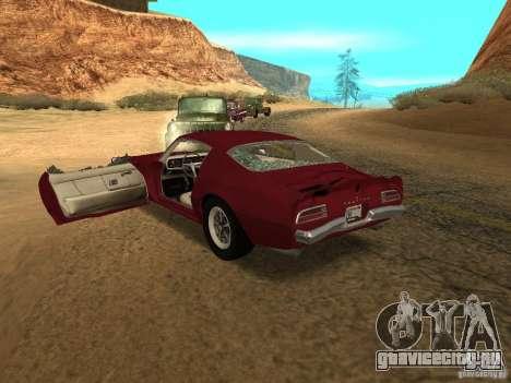 Pontiac Firebird 1970 для GTA San Andreas вид сбоку