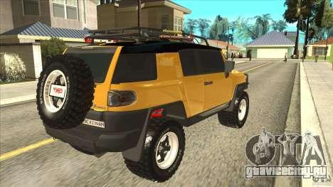 Toyota FJ Cruiser для GTA San Andreas вид справа