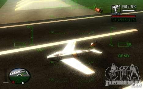 F 86 Sabre для GTA San Andreas вид справа