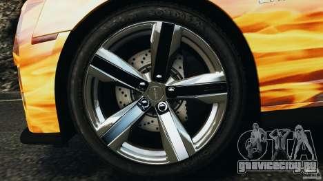 Chevrolet Camaro ZL1 2012 v1.0 Flames для GTA 4 вид снизу