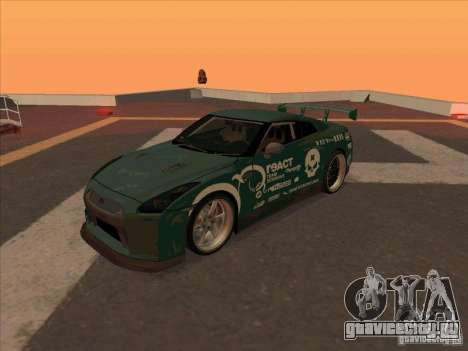 Nissan GT-R R35 rEACT для GTA San Andreas вид слева
