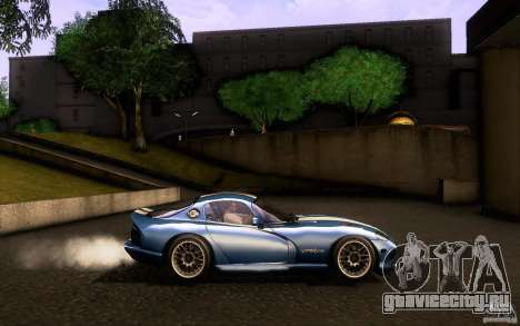 Dodge Viper GTS Coupe TT Black Revel для GTA San Andreas вид изнутри