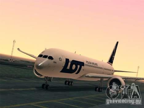 Boeing 787-9 LOT Polish Airlines для GTA San Andreas салон