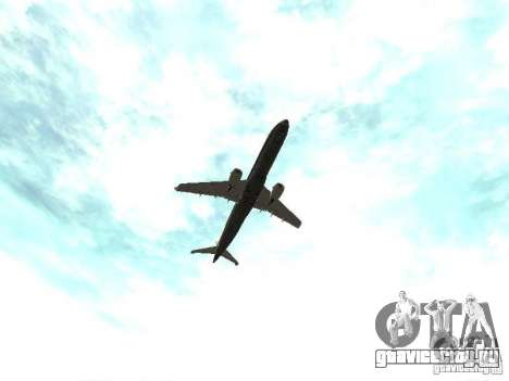 Embraer E-190 для GTA San Andreas вид сбоку