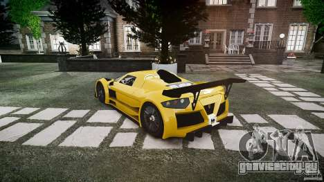 Gumpert Apollo Sport v1 2010 для GTA 4 вид справа