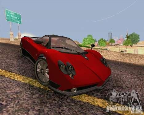 Pagani Zonda F v2 для GTA San Andreas вид изнутри