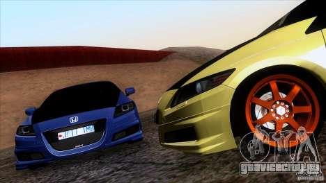 Honda CR-Z Mugen 2011 V1.0 для GTA San Andreas вид сзади