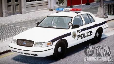 Ford Crown Victoria FBI Police 2003 для GTA 4 вид слева