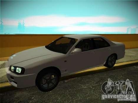 Nissan Skyline ER34 для GTA San Andreas вид сзади