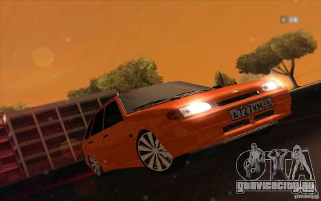 Ваз 2114 Juicy Orange для GTA San Andreas вид сзади слева