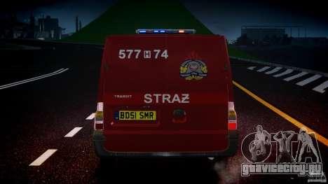 Ford Transit Polish Firetruck [ELS] для GTA 4 салон