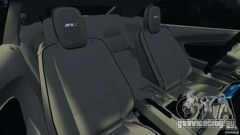 Chevrolet Camaro ZL1 2012 v1.0 Flames для GTA 4 вид сбоку