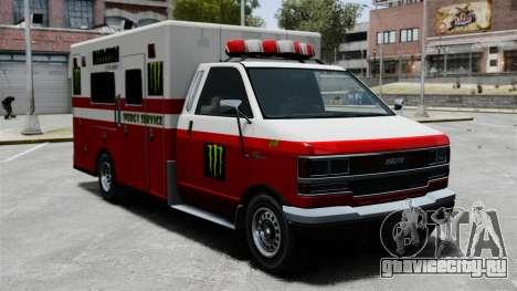 Скорая помощь Monster Energy для GTA 4 вид слева