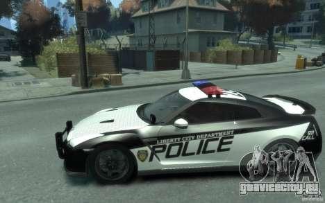 Nissan GT-R R35 Police для GTA 4 вид слева