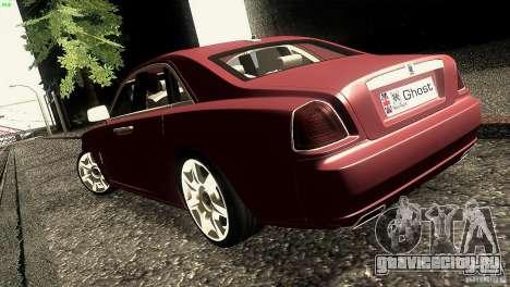Rolls-Royce Ghost 2010 V1.0 для GTA San Andreas вид сзади слева
