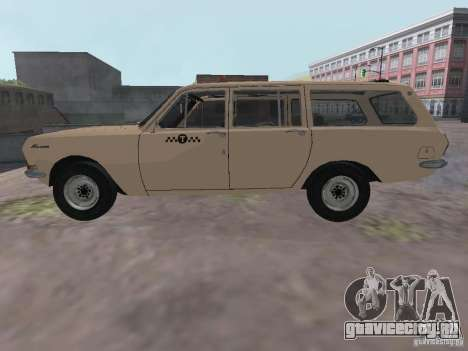 ГАЗ 24-02 Волга Такси для GTA San Andreas вид слева