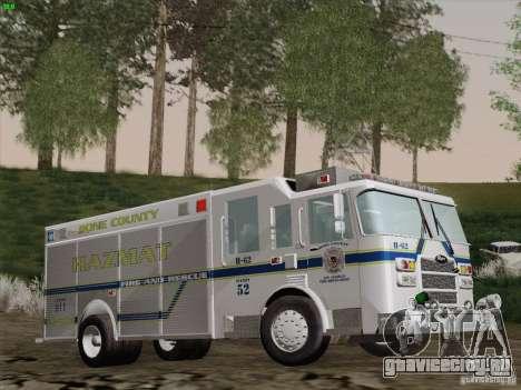 Pierce Fire Rescues. Bone County Hazmat для GTA San Andreas вид сбоку