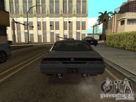 Sabre из GTA 4 для GTA San Andreas вид сзади слева