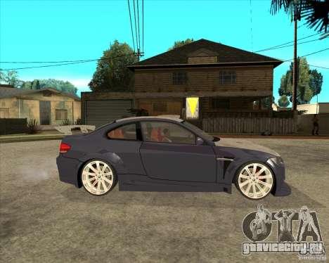 BMW M3 E92 TUNED для GTA San Andreas вид справа