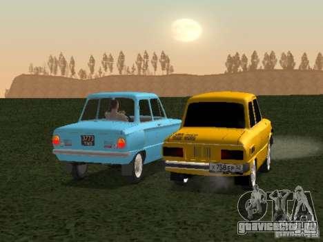 ЗАЗ 968 для GTA San Andreas вид сзади слева