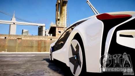 BMW Vision Efficient Dynamics 2012 для GTA 4 вид сзади слева
